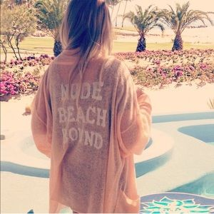 Wildfox Nude Beach Bound Slouch Cardigan size M